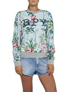 Replay W3971h.000.71770 Sweat-Shirt, Multicolore (Coloured Flowers 10), Medium Femme