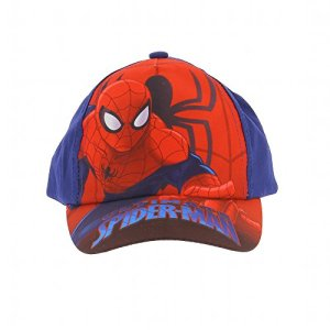 Spiderman – Casquette Spiderman Ultimate Spiderman, proctection solaire UV30+ – Marine, 54 cm