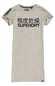 Superdry Portland T_Shirt Dress Robe, Gris (Grey Marl 07Q), XS Femme