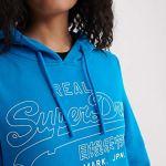 Superdry VL Outline Pop Entry Hood Ub Sweat-Shirt À Capuche, Bleu (Light Cobalt K6W), L (Taille Fabricant:14) Femme
