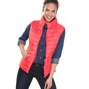 VENCA Blouson sans Manches Matelass� et Zipp� col Montant Femme – 015558,Rouge,M