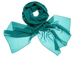 Dresstells, Femme pashmina châle écharpe étole en mousseline polyester printemps/été,Vert Foncé,180cm×72cm