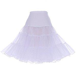 DRESSTELLS Jupon années 50 Vintage en Tulle Rockabilly Petticoat Longueur 66cm/26,White S