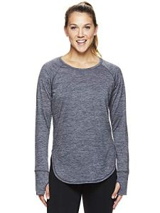 HEAD T-Shirt d'entraînement à Manches Longues pour Femme – Gris – Taille XS