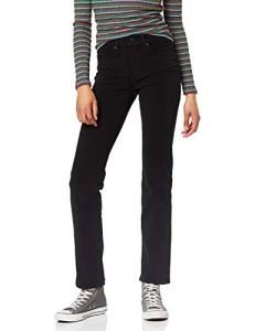 Levi's 314 Shaping Straight Jean Droit, Noir (4X Stretch New Ultra Black 0063), W30/L34 Femme