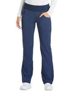 CHEROKEE Iflex Pantalon à enfiler pour femme – Bleu – Taille XL