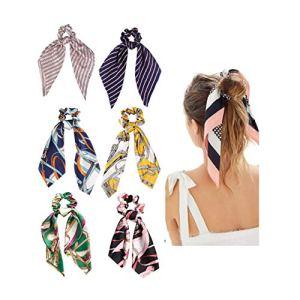 DRESHOW Bandeau à noeuds à fleurs Boho Bandeau à cheveux floral Bandage facial en tissu-éponge Bandeau de douche en coton à motif de sport 6 Pack (Lot de 6 foulards B)