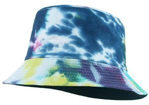 EOZY Chapeau Bob Femme Homme Chapeau de Soleil Unisexe Pêcheur Randonnée Outdoor Casual Anti-UV Voyage Vintage Été (Bleu)