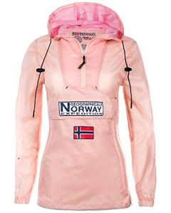 Geographical Norway Veste coupe-vent pour femme – Rose – Small