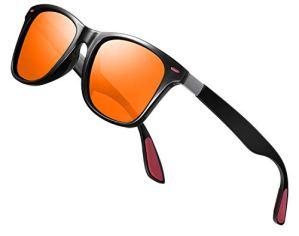 Lunettes de Soleil polarisées Homme Femme/Sports Eyewear réfléchissantes avec Sports de Plein air d'été Conduite pêche Alpinisme Lunettes de Soleil Hommes (o1range)