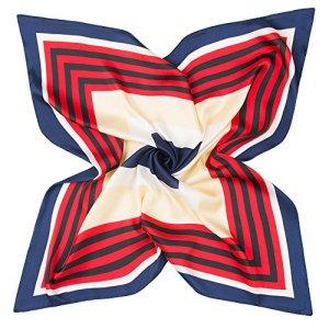 MINMINA Foulard carré pour Les Femmes, Carré Foulards Mode, Convient pour Décorations Comment améliorer Temperamento60 cm * 60 cm,Rouge