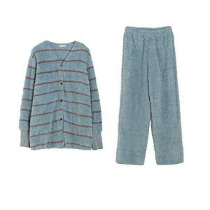 no brand Manches Longues Pajamas Set Mme Bouton vers Le Bas Reste l'anniversaire Pyjama Manches Longues A Épousé Le Choix De Cadeau Parfait Ensemble Pyjama en Coton (Couleur : Vert, Taille : 165)