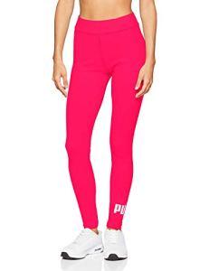 PUMA Ess Logo Leggings Pantalons Femme, Bright Rose, S