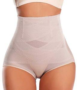 SLIMBELLE Culotte Gainante Amincissante Culotte Sculptante Ventre Plat Taille Haute Femme Panty Minceur-Beige-M