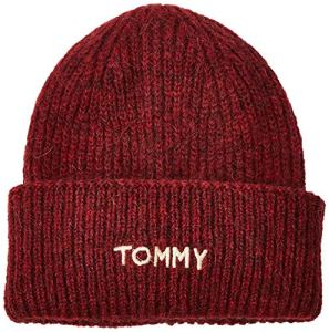 Tommy Hilfiger Effortless Beanie Bonnet, (Red Gbh), Unique (Taille Fabricant: OS) Femme