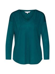Tommy Hilfiger Th Essential V-NK Top 3/4 SLV Sweat-Shirt de Sport, Vert (Rain Forest Lj5), XX-Large Femme