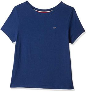 Tommy Jeans Femme Summer Essential Tee Pull de sport Bleu (Estate Blue 419) Large