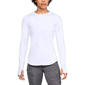 Under Armour UA CG Shirt à Manches Longues Femme, Blanc, FR : M (Taille Fabricant : MD)