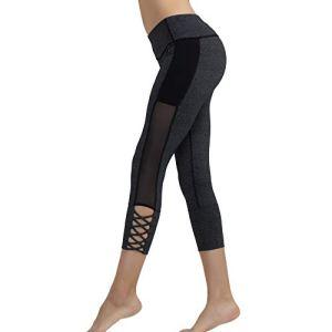 BaoYPP Pantalons de Yoga Pantalon de Yoga for Femme Pantalon de Yoga for entraînement avec contrôle du Ventre Leggings Aimer la Vie (Couleur : Gris, Size : L)