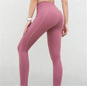 Collants et leggings de sport femme Pantalon de yoga Femmes nouveau pantalon de sport coupe ajustée de haute qualité femme couleur unie Fitness Yoga formation pantalons de survêtement dame séchage ra