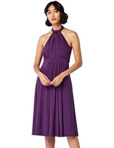 Marque Amazon – TRUTH & Fable Multiway Midi – robes de cérémonie – Femme, Violet (Bright Purple), 46, Label:XXL