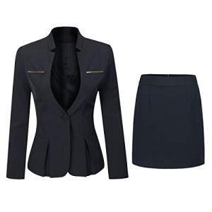 Ensemble de 2 pièces pour Femme avec Blazer et Jupe ajustée – – Taille S