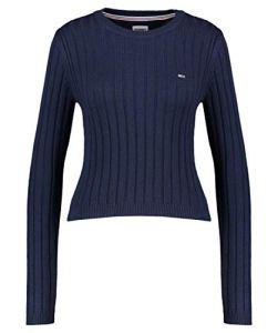 Tommy Jeans Tjw Regular Rib Sweater, Twilight Navy, XXS Femme