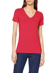 Tommy Jeans Tjw Shortsleeve Stretch Tee Pull De Sport, Rouge (Blush Red Xif), 32 (Taille Fabricant: Small) Femme