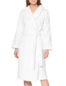 Calvin Klein Robe De Chambre, Blanc (White 100), 38 (Taille Fabricant: XS-S) Femme