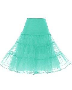 Dresstells Jupon années 50 vintage en tulle Rockabilly Petticoat longueur 66cm/26″,Mint L