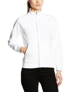 Fruit of the Loom SS091M, Sweat shirt à capuche Femme, Blanc-Blanc, 42