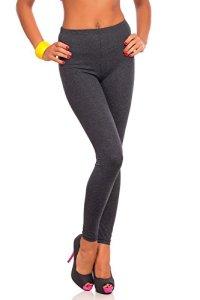 FUTURO FASHION Women's Full Length Cotton Leggings Soft, Plus Sizes Graphite 24