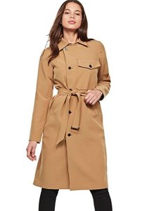 G-STAR RAW Aefon Trench Wmn, Manteau Femme, Marron (Antelope 240), Medium