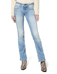 G-STAR RAW Midge Saddle Mid Bootleg Wmn, Jeans Femme, Bleu (Lt Aged), 28/34(UK)