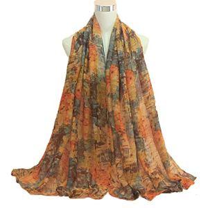 JIANYUXIN Écharpe d'hiver Foulard en Coton Classique pour Femmes