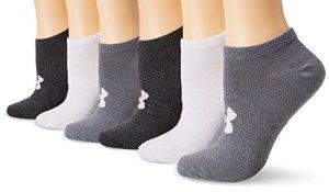 Lot de 6 paires de chaussettes Under Armour Essential – Modèle femme, femme, Graphite Marl/Assorted