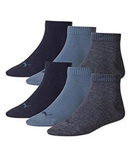 Puma Lot de 6paires de chaussettes basses de sport – Bleu – 43