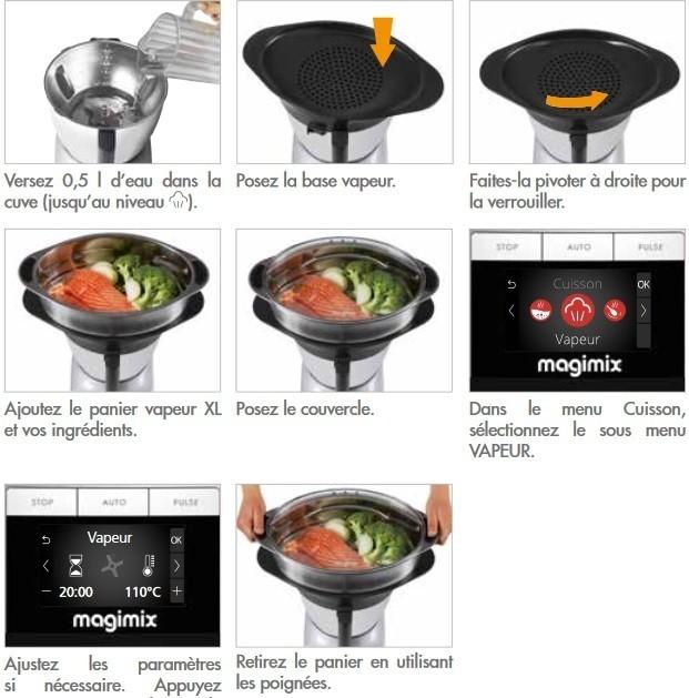 panier vapeur xl optionnel pour robot magimix cook expert