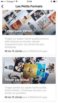 clicher_app application impression photo