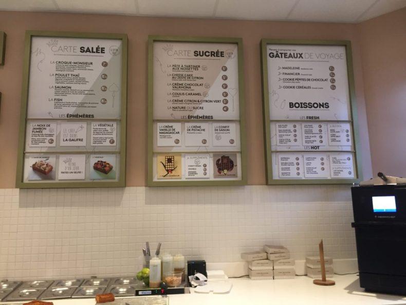 carte Yummy And Guiltfree gaufre gastronomie gluten free sans gluten Paris Grands Boulevards