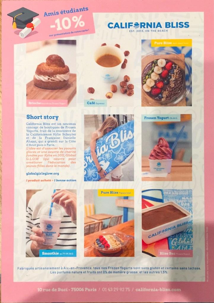 carte California Bliss - frozen yogurt