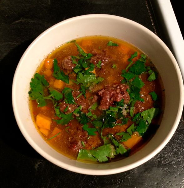 Cow Foot and Meatball Soup