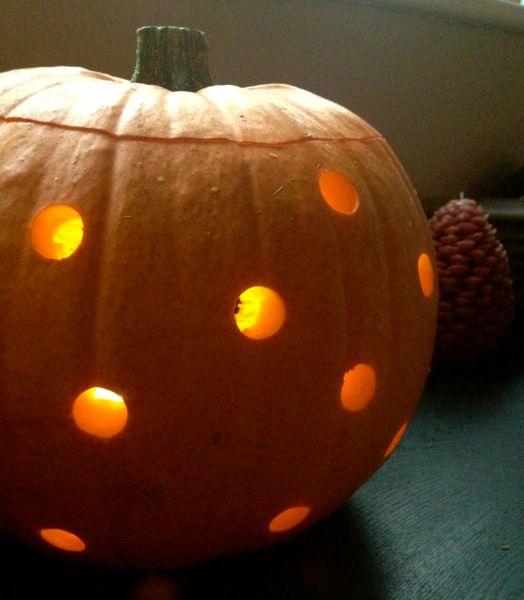 Polka Dot Pumpkin Lantern