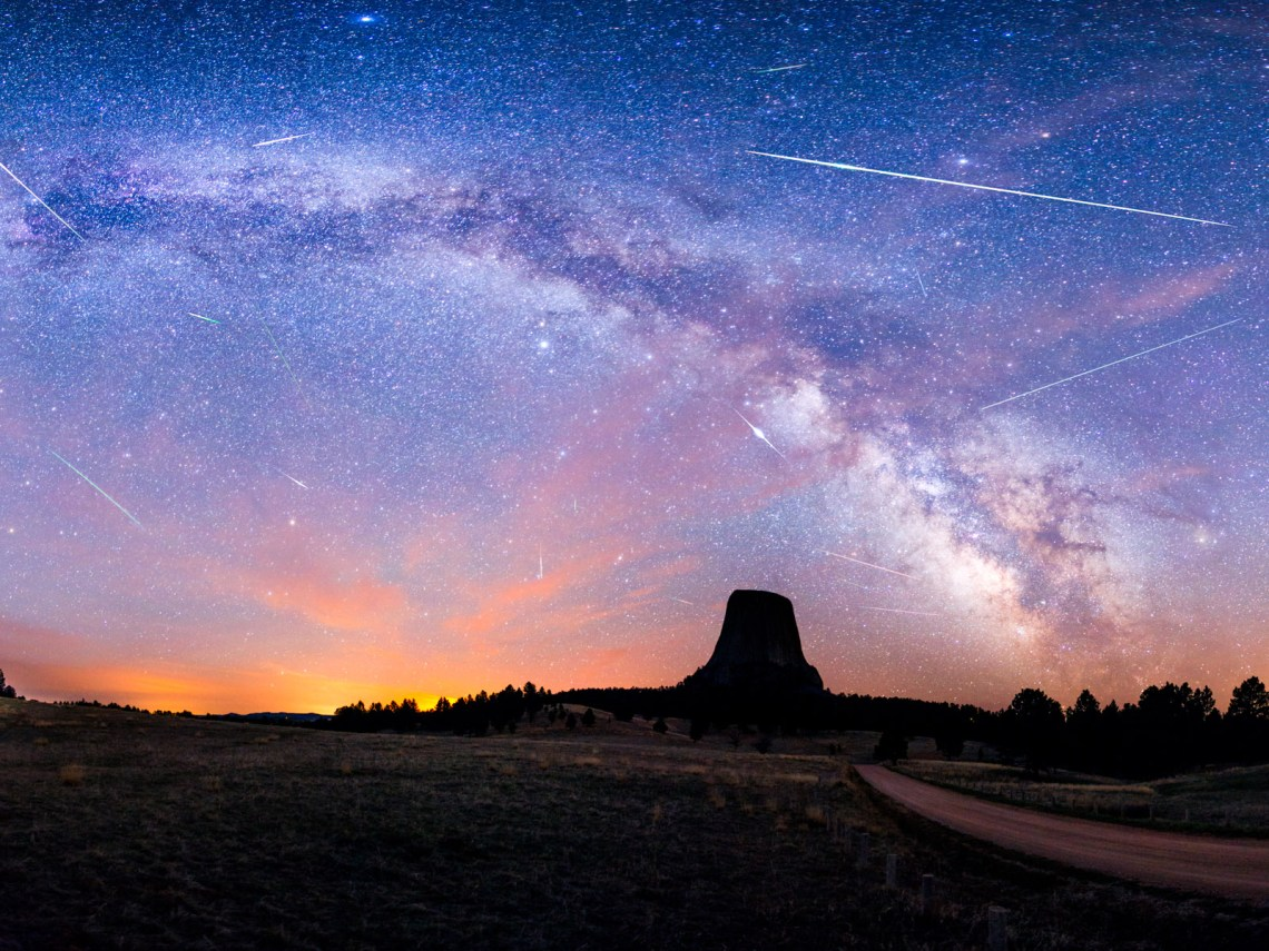 3 nights of the Eta Aquarids Meteor Shower by David Kingham There are a total of 16 meteors and 1 very bright Iridium satellite for good measure.