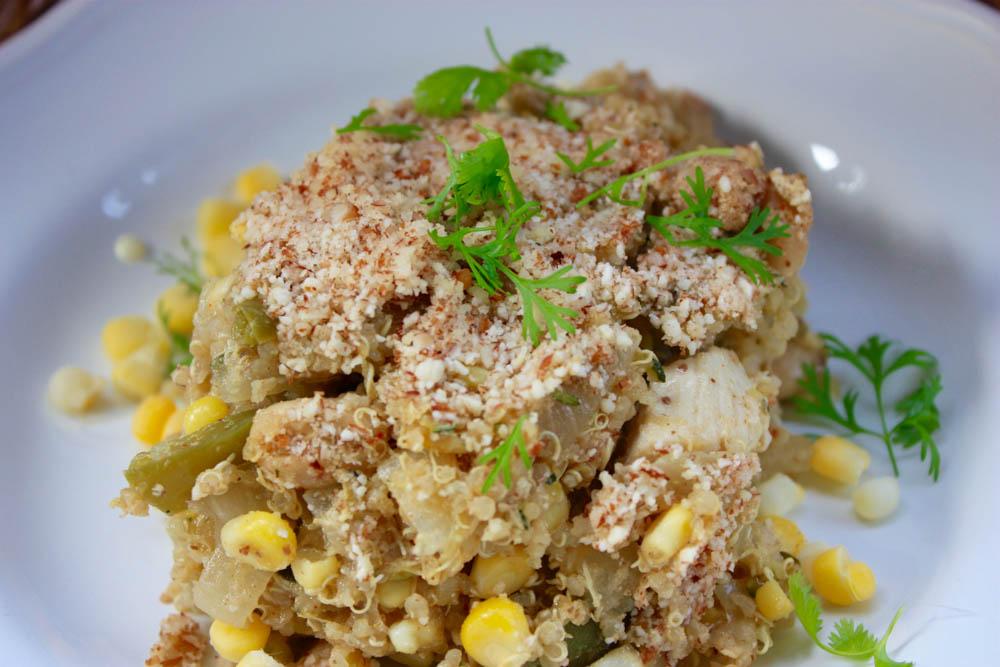 Chicken Corn and Zucchini Casserole
