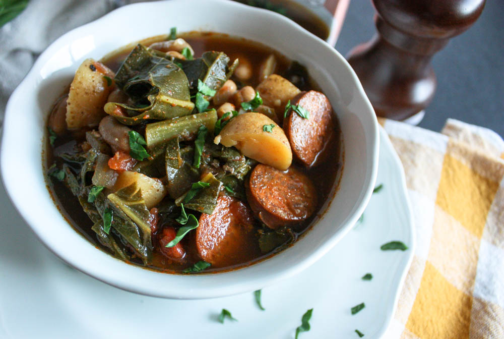Chorizo and Collard Green Soup