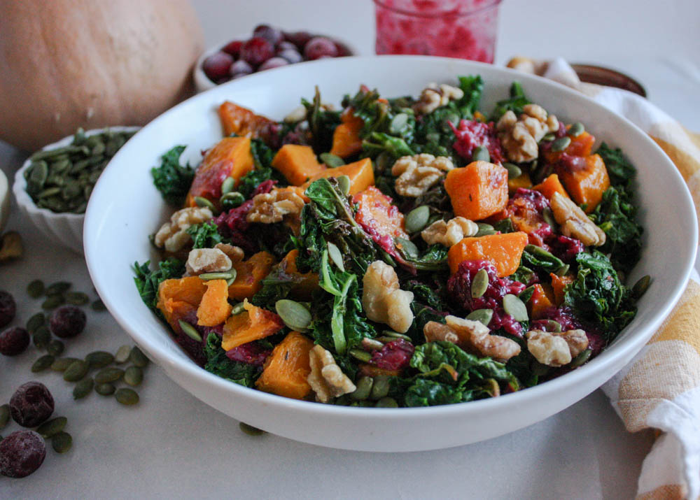 Harvest Time Butternut Squash and Kale Salad