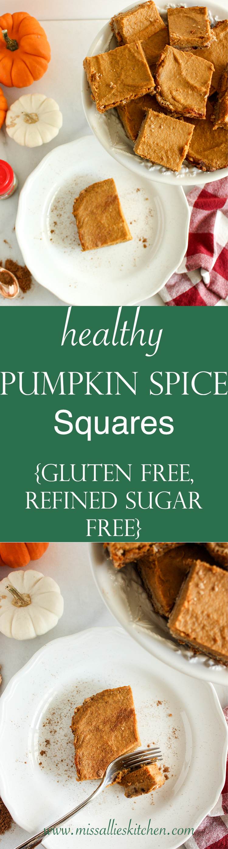 Healthy Pumpkin Spice Squares - Nutrient packed spin on a classic that is sure to be a family favorite!