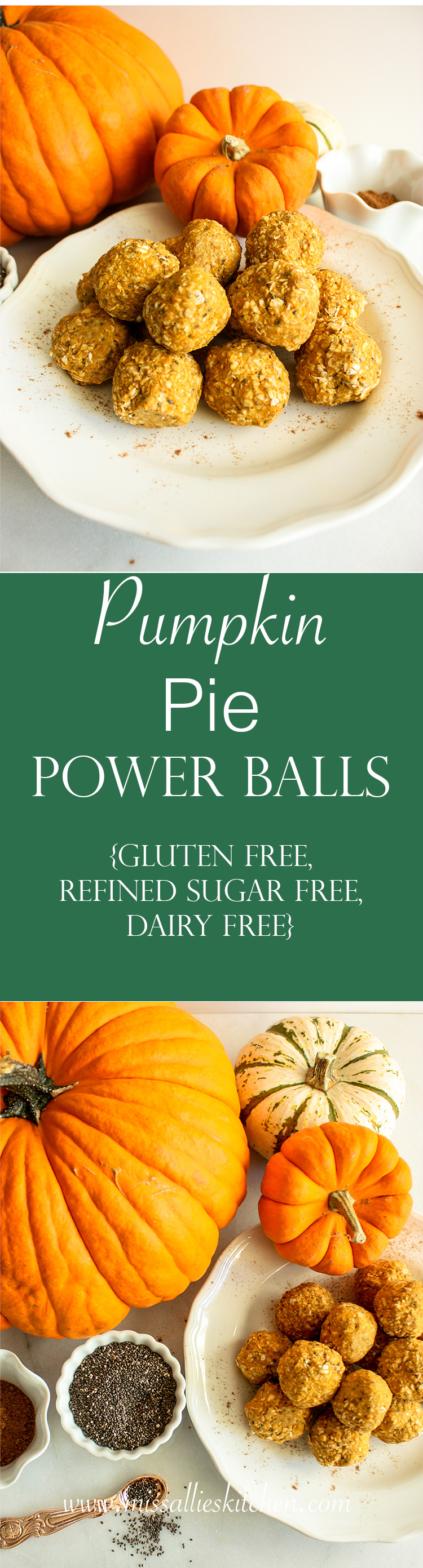 Pumpkin Pie Power Balls - a powerful pumpkin snack to help you tackle the day ahead! Gluten free, dairy free, refined sugar free & no bake!