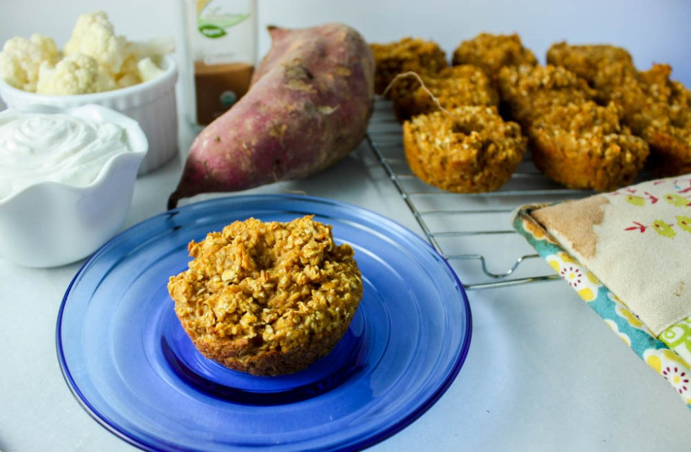Sweet Potato and Cauliflower Oat Cups
